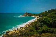 Incredible sea landscape in Tayrona National Park Stock Photography