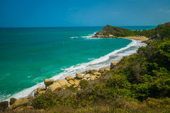 Incredible sea landscape in Tayrona National Park Stock Photography