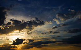Incredible sunset sky Royalty Free Stock Images