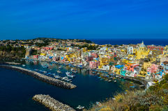 Incredible view of the beautiful Procida, Naples, Italy Stock Photo