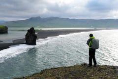 Incredible view of the Black beach Stock Photos