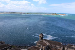 Incredible view from El Morro Fort Puerto Rico Stock Photography