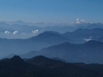 Incredible View From A High Mountain Near Poon Hill Stock Image