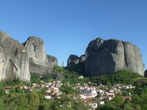 The Incredible View of Meteora seen from the Town of Kastraki, Greece Royalty Free Stock Photography