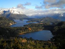 Incredible view of Patagonia. A beautiful view over the lakes and mountains of Patagonia Royalty Free Stock Photography
