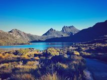 Cradle Montain View. Incredible view from Tasmanian Dove Lake and Cradle royalty free stock images