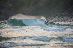 Incredible Waves at Sao Paulo Ilhabela Island. Stock Photos