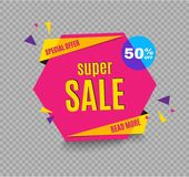 Incredible Wow Sale banner design template. Big super sale special offer, Vector illustration. Incredible Wow Sale banner design template. Big super sale Royalty Free Stock Photos