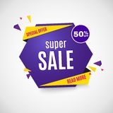Incredible Wow Sale banner design template. Big super sale special offer, Vector illustration. Incredible Wow Sale banner design template. Big super sale Royalty Free Stock Image