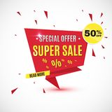 Incredible Wow Sale banner design template. Big super sale special offer, Vector illustration. Incredible Wow Sale banner design template. Big super sale Royalty Free Stock Photography