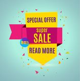 Incredible Wow Sale banner design template. Big super sale special offer, Vector illustration. Incredible Wow Sale banner design template. Big super sale Royalty Free Stock Images
