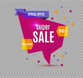 Incredible Wow Sale banner design template. Big super sale special offer, Vector illustration. Incredible Wow Sale banner design template. Big super sale Stock Photography