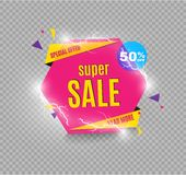 Incredible Wow Sale banner design template. Big super sale special offer, Vector illustration. Incredible Wow Sale banner design template. Big super sale Stock Images