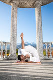 Incredible Yoga advance pose Stock Image