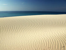 Incredibles Dunes at Porto Pino's Bay Royalty Free Stock Photos