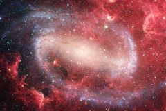 Incredibly beautiful galaxy many light years far from the Earth vector illustration