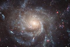 Incredibly beautiful galaxy somewhere in deep space. Science fiction wallpaper. Elements of this image furnished by NASA stock photos