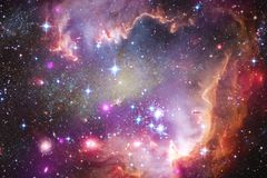 Incredibly beautiful galaxy somewhere in deep space. Science fiction wallpaper. Elements of this image furnished by NASA royalty free stock photography