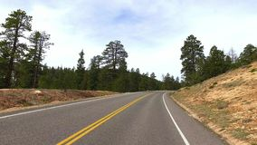 Incredibly beautiful landscape in Bryce Canyon spring road driving POV. Geological formation weather water erosion. Nature ecological sensitive landscape and stock video footage