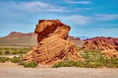 Incredibly beautiful landscape in Southern Nevada, Valley of Fire State Park, USA royalty free stock images