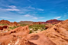 Incredibly beautiful landscape in Southern Nevada, Valley of Fire State Park, USA royalty free stock photo
