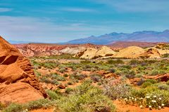 Incredibly beautiful landscape in Southern Nevada, Valley of Fire State Park, USA stock image