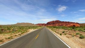 Incredibly beautiful landscape in Southern Nevada, Valley of Fire State Park USA. Smooth camera movement along the road. stock video footage