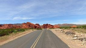 Incredibly beautiful landscape in Southern Nevada, Valley of Fire State Park USA. Smooth camera movement along the road. Incredibly beautiful landscape in stock video
