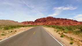 Incredibly beautiful landscape in Southern Nevada, Valley of Fire State Park USA. Smooth camera movement along the road. Incredibly beautiful landscape in stock video footage