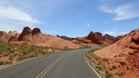Incredibly beautiful landscape in Southern Nevada, Valley of Fire State Park USA. Smooth camera movement along the road. Incredibly beautiful landscape in stock footage