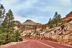 Incredibly beautiful landscape in Zion National Park, Washington County, Utah, USA Stock Images