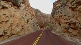 Incredibly beautiful landscape in Zion National Park, Washington County, Utah USA. Smooth camera movement along the road stock video footage