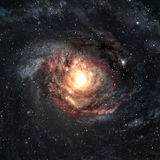 Incredibly beautiful spiral galaxy somewhere in Royalty Free Stock Photography
