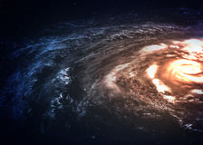 Incredibly beautiful spiral galaxy somewhere in. Deep space. Elements of this image furnished by NASA Stock Photography