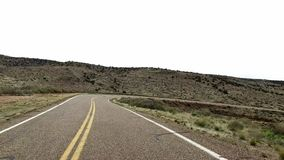 Incredibly beautiful spring landscape in Utah. Road driving POV. Geological formation weather water erosion. Nature. Ecological sensitive landscape and tourist stock footage