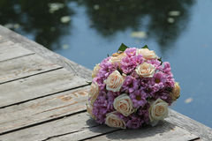 Incredibly beautiful wedding bouquet Royalty Free Stock Photos