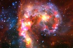 Incredibly härlig galax någonstans i djupt utrymme Sciencetapet royaltyfria foton
