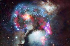 Incredibly härlig galax någonstans i djupt utrymme Sciencetapet royaltyfri foto