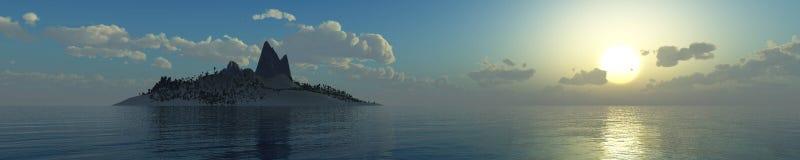 Incredibly härlig solnedgång på havet Fotografering för Bildbyråer