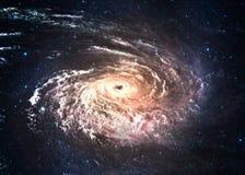 Incredibly härligt röra sig i spiral galaxen någonstans in Arkivfoto