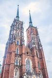 Ncredibly tall and beautiful church of the name of Jana Chrzciciela stock images