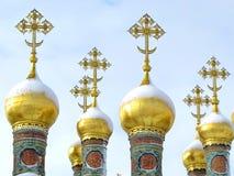 Incroci dorati ortodossi Fotografia Stock Libera da Diritti