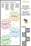 Incroci (kriss-kross, o da riempire) il puzzle di parola Fotografia Stock