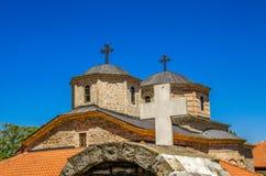 Incroci sul monastero di Slepce, Demir Hisar, Macedonia Fotografie Stock