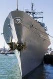 Incrociatore del missile del distruttore del blu marino degli Stati Uniti Immagini Stock