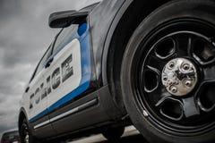 Incrociatore della polizia dello stato immagine stock