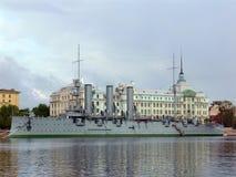 Incrociatore di Avrora a St Petersburg Immagine Stock Libera da Diritti