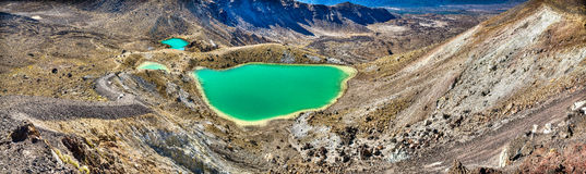 Incrocio alpino di Tongariro Immagine Stock Libera da Diritti