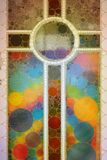 Incrocio astratto decorato del mosaico Fotografie Stock