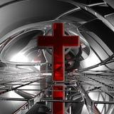 Incrocio cristiano Fotografia Stock Libera da Diritti